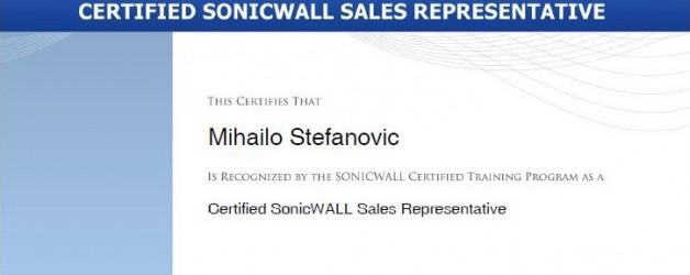 Nova SonicWALL sertifikacija